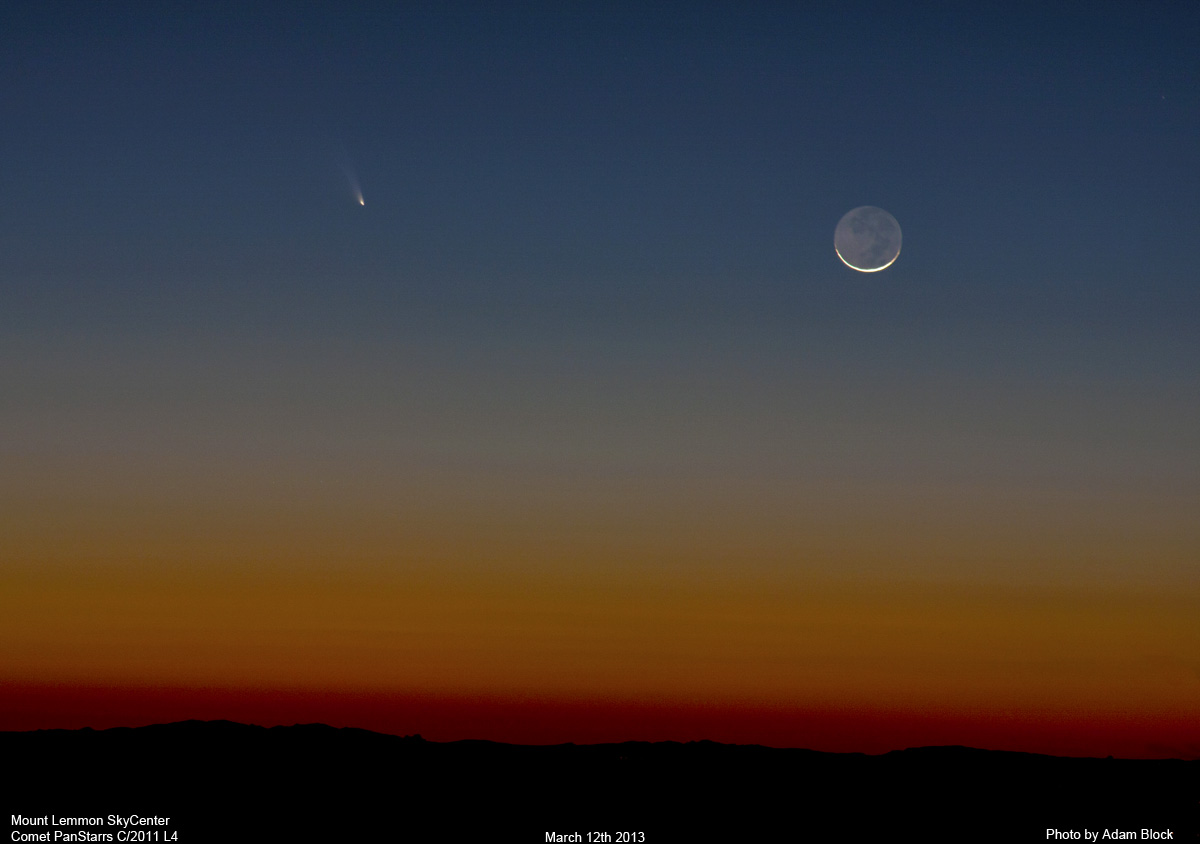 A photo of panstarrs_and_moon_03122013s