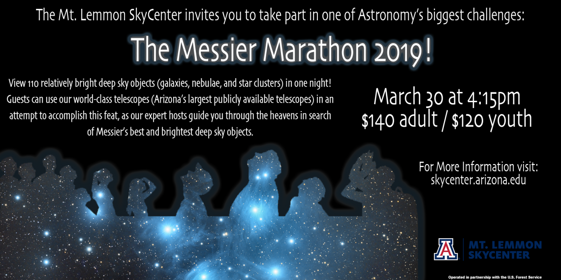 The Messier Marathon 2019 Mount Lemmon SkyCenter March 30-31